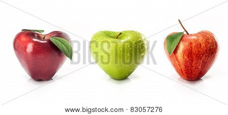 Apple in the shape of heart