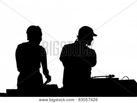DJ for music on a white background