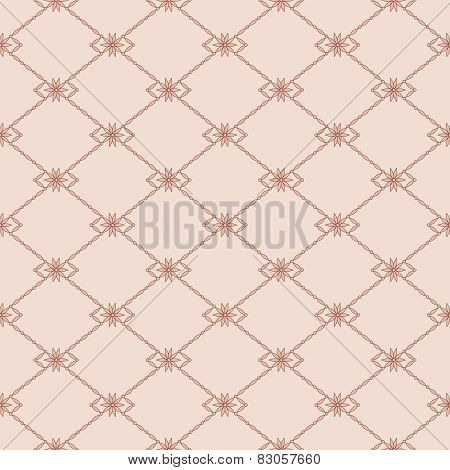 Seamless Pink Pattern With Lace Net. Objects Grouped And Named In English. No Mesh, Gradient, Transp