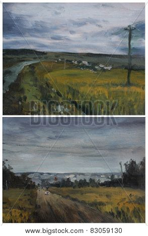 Oil Sketches Cloudy