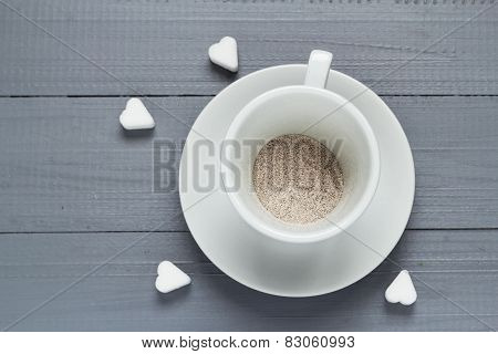 Capuccino Cup Coffee Prepared Boiling Water Flood