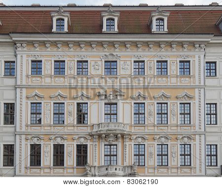 Vintage house facade Dresden, Saxony Germany