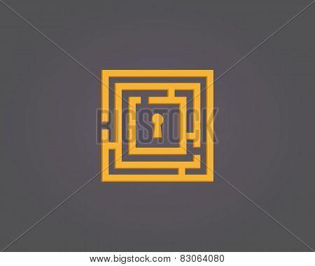 Colorful abstract maze logo