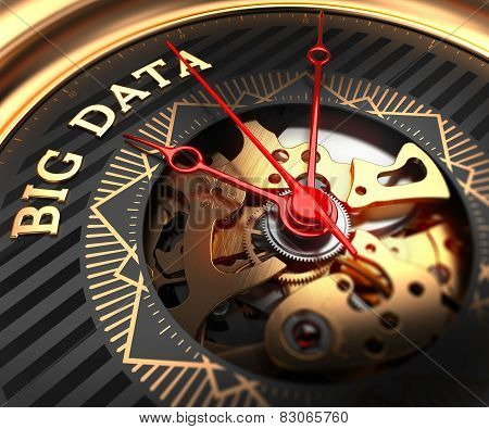 Big Data on Black-Golden Watch Face.