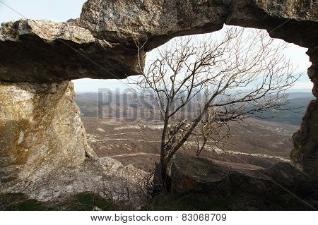 Ancient Cave City In The Rock In Crimea In Autumn