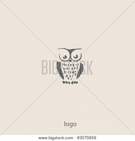 Owl doodle cartoon