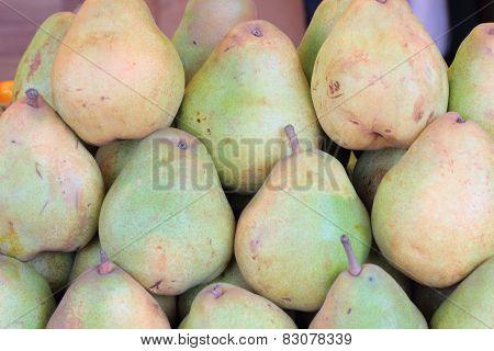 Pear green.