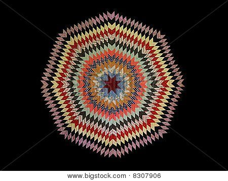Colorful Octagon Quilt