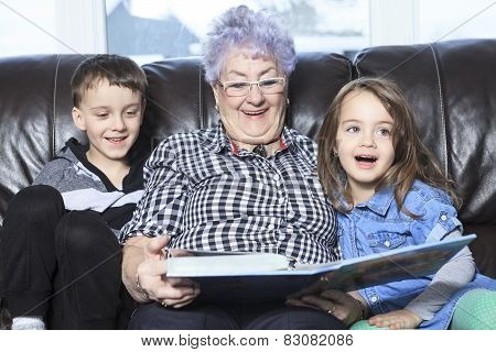 Portrait of smiling multigeneration family spending leisure time