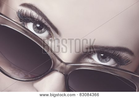 Seductive Look Over Sunglasses