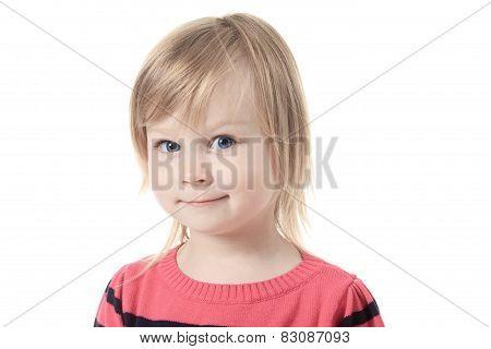 Beautiful little girl with great blue eye