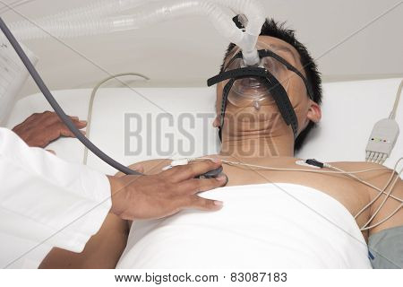 Patient Receives Artificial Ventilation