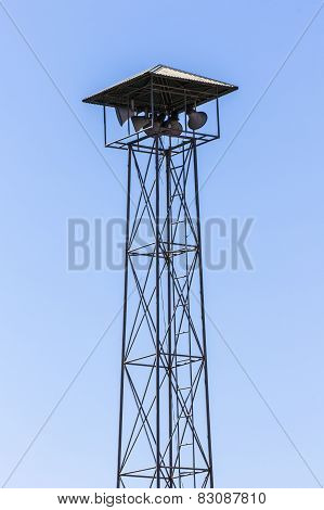 Speaker On High Tower, Thailand Asia