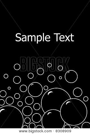 Card With Bubbles On Black Background