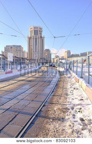 Tramways At Paveletskaya Square