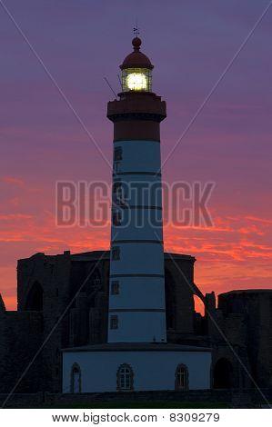 lighthouse and ruins of monastery Pointe de Saint Mathieu