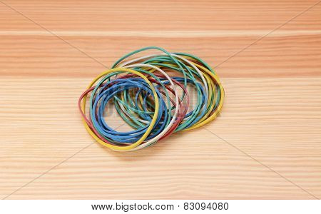 Small Pile Of Coloured Elastic Bands