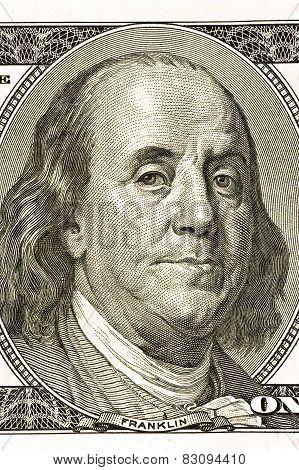 Benjamin Franklin On Hundred Dollar Bill