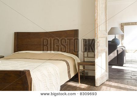wide bed near door