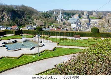 Fougeres Town (france) Spring View.