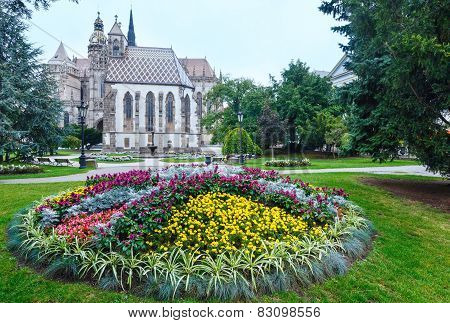 Kosice City Autumn View