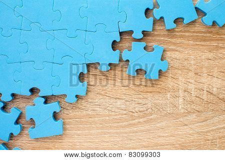 Business Teamwork Concept By Jigsaw Puzzle Pieces