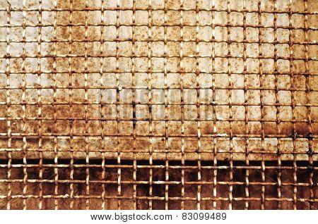 rusty wire mesh