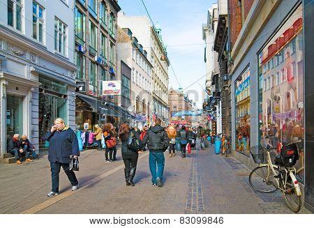 Denmark. Copenhagen. Stroget