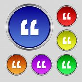 pic of quotation mark  - Quote sign icon - JPG