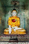 image of yangon  - Buddha statue in Burma famous sacred place and tourist attraction landmark  - JPG