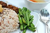 Healthy Unpolished Red Rice And Beans poster
