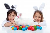 image of tame  - Happy kids at easter time  - JPG