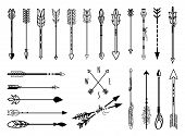 stock photo of indian culture  - Big set of hand drawn arrows - JPG