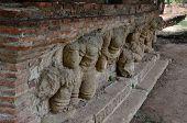 stock photo of garuda  - Garuda statue of wat mahathat on ayutthaya Thailand  - JPG