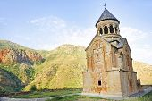 pic of armenia  - Architecture shot with ancient Noravank monastery in Armenia - JPG