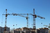pic of construction  - The construction of the building using construction equipment - JPG
