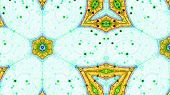 foto of trippy  - Complex abstract fractal pattern on a pastel green background - JPG
