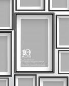 stock photo of pamphlet  - eps10 vector rectangular empty space photo frame background design - JPG