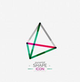 picture of triangular pyramids  - Pyramid shape line design - JPG