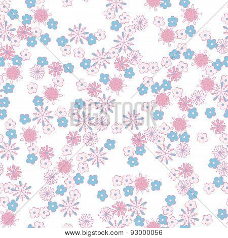 floral seamless pattern. light romantic background for your design