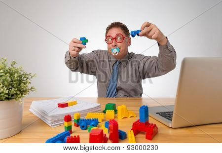 Businessman Playing