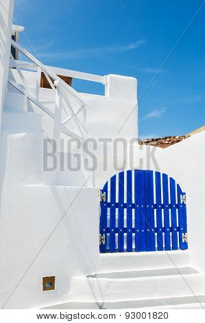 Cycladic Blue And White Architecture