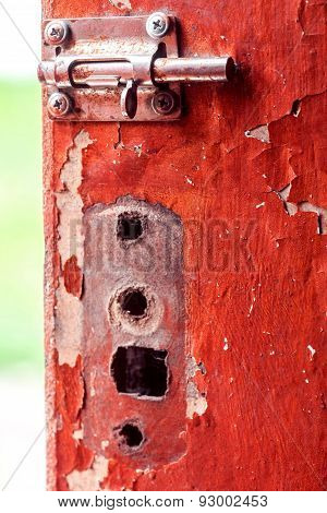 Old Heck On Old Shabby Door
