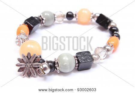 Colored Bracelet For Woman On White Background
