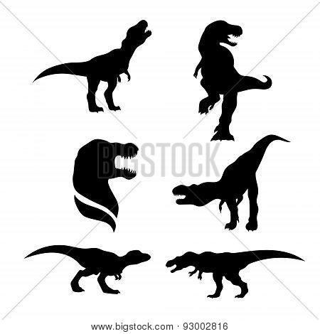 Tyrannosaurus set vector