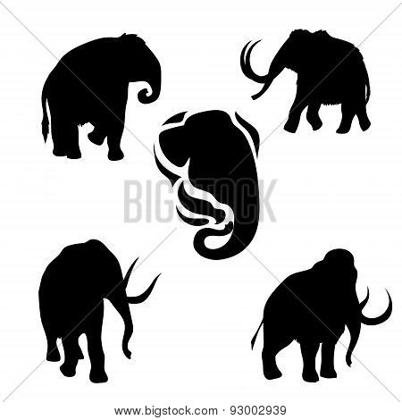 Mammoth set vector