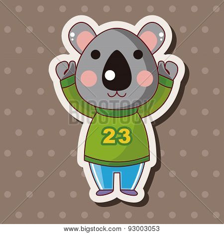 Animal Koala Winter Cartoon Theme Elements