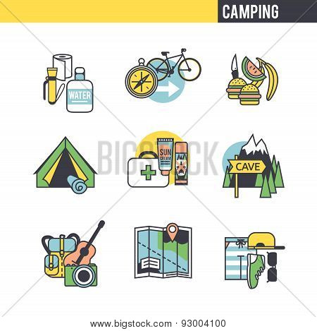 Camping concept.