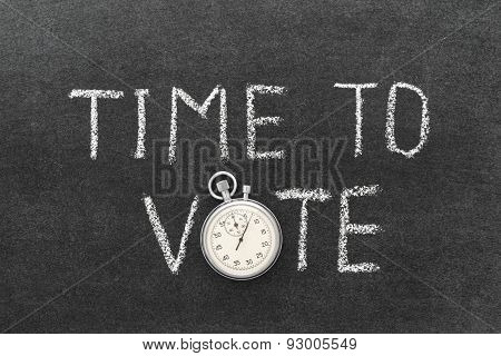 Time To Vote