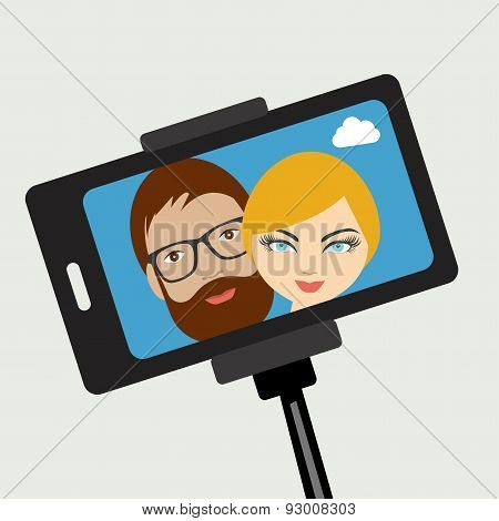 Young Couple Selfie Photo.